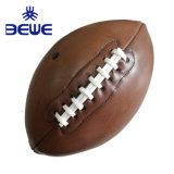 A fábrica 4 Pilar Promoção mini de alta qualidade da formação do logotipo personalizado de bola de Rugby de couro
