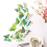 etiquetas da borboleta 3D, decorador removível dos decalques da arte de /Murals das etiquetas da parede do vinil da parede do Auto-Adesive