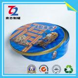 Коробка олова металла круглая для упаковывать жестяной коробки еды
