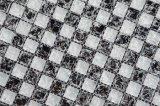 Venta caliente Ice crepitar 8mm mezcla mezcla de color negro Mosaico de vidrio