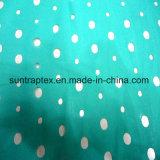 衣服のためのポリエステルレーザーの切口の繭紬ファブリック