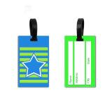 PVC souple caractère bagages de voyage en 3D en PVC de taille standard Luggage Tag valise nom Tag