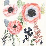 Arte hecho a mano del hogar de la pintura al óleo del diseño hermoso moderno de la flor