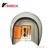 El sonido acústico de la caja de plástico reforzado de capó Antinoise Cabina telefónica