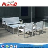 L'aluminium/acier inoxydable ensemble canapé de plein air avec pouf et coussin