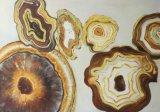 Goldenes abstraktes GroßhandelsÖlgemälde für handgemachten Hauptdekor