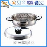 Girarrosto ovale del Cookware dell'acciaio inossidabile con la cremagliera ed il coperchio (CX-SR0301)