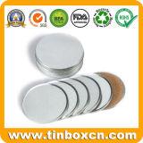 Het ronde Tin van het Metaal en de Reeksen van de Onderlegger voor glazen van het Tin