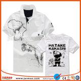 Il nuovo marchio comodo ha stampato la maglietta 100% di polo del poliestere