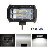 Barre en gros d'éclairage LED de l'aurore d'IP67 5inch 72W pour tous terrains