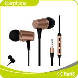 ハイファイ耳の小型Earbudsサポートロゴの印刷のマイクロフォンの音量調節