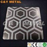 Strato decorativo dell'acciaio inossidabile 304 con la vibrazione, i colori Ti-Neri del rivestimento ed acquaforte