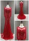 Полный серый цвет способа втулки/Шампань/красное/голубое платье вечера для церемонии