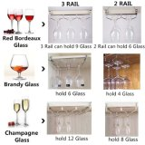 Porta-paletes Stemware, vinho de aço ajustável suporte de vidro no âmbito do Gabinete (3 Rampa)