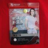 De douane Afgedrukte Plastic Verpakkende Zak van het Ondergoed van de Vrouwen van de Zak van de T-shirt van de Ritssluiting