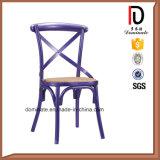 새로운 디자인 고품질 x 철 교차하는 뒤 식사 의자