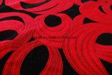 Tessuto d'affollamento nero e rosso