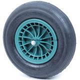 16''x4.00-8 roda de borracha com aro plástico