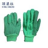 gants de travail de 10g T/C avec les points bilatéraux de PVC