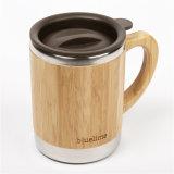 Kop van de Koffie van Innner van het Roestvrij staal van de Misstap niet de Houten met Deksel