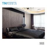 Écran antibruit vêtu par tissu décoratif intérieur amical de fibre de polyester d'Eco pour le panneau de mur
