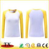 T-shirts van hete de Verkopende Katoenen Vrouwen met Aangepast Embleem