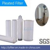 Membrana dei pp 0.2 micron cartuccia di filtro pieghettata 10 pollici dal polipropilene per il trattamento dell'acqua pre