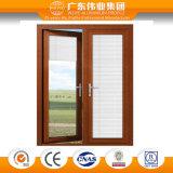 Certificación de aluminio de la BV de la ventana del marco del color de madera