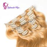 Clip #27 en peluca ondulada humana del pelo humano del pelo de la extensión 70g 7 PCS/Set Remy del pelo con el envío libre