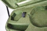Caisse dure de violon de mousse oblongue intérieure verte