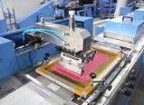 세륨을%s 가진 기계를 인쇄하는 자동적인 스크린이 Multicolors 공단에 의하여 레테르를 붙인다