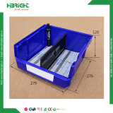 Loja de ferragem que pendura para trás escaninhos plásticos do armazenamento reusável dos PP para a cremalheira