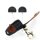 本革の配線のイヤホーンApple Airpodsのための保護袋箱