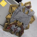 Zubehör-fertigen bestes Qualitätsschneeflocke-Chef-Andenken-Metall Medaille kundenspezifisch an