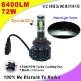 6500K para el alquiler de carretilla// Bus con Philip chips LED H4 Faro LED