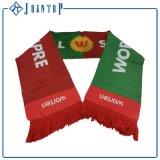 Écharpe tricotée par impression faite sur commande libre de passionés du football de logo de taille