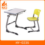 Mesa moderna da sala de aula da escola do uso original do estudante do projeto com parte superior de madeira para a mobília de escola