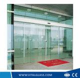 Vidro de placa Tempered/endurecido desobstruído para a porta deslizante/entrada