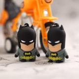 Batman-Feder-Laufwerk-Kapitän Amerika USB-Blitz-Laufwerk-Superheld Pendrive