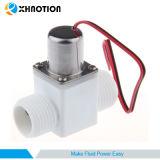 C.C. elétrica masculina Bi-Stable do interruptor de fluxo 3-12V da entrada da água da válvula de solenóide da válvula de solenóide