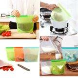 Venda por grosso de preservação de alimentos reutilizável BPA-Free Saver Saco de alimentos de silicone para o recipiente de armazenamento de alimentos