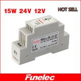 SMPS 12V 24V 15W Enige Output 120VAC 230VAC aan Levering van de Macht van het 12VDC1.25A 24VDC 0.62A de Industriële DIN Spoor