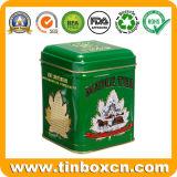 Weinlese-Teebeutel-Speicher-Zinn für das Metalltee-Transportgestell-Verpacken