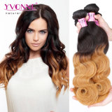 Yvonne Best Selling Virgem Humanos Peruano Ombre Hair tecem Onda do corpo
