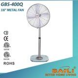 Baili 16 Zoll-klassischer Metallstandplatz-Ventilator mit Glasunterseite