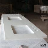 Controsoffitto artificiale della stanza da bagno della pietra del quarzo della scintilla il più bene bianca