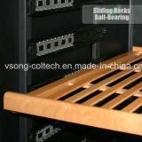 110bottles построенное в охладителе вина управлением влажности зоны компрессора LG нержавеющей стали двойном