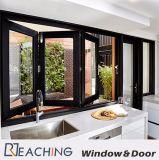 Cozinha dobramento de alumínio de Windows e das portas aberto com ferragem dos bens da prova da água
