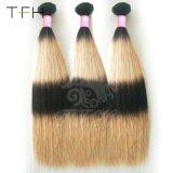 Venda quente 9A Virgem Brasileira Ombre Extensão de cabelo humano