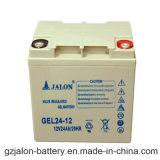 Recargable de larga duración de batería de gel para el sistema de seguridad (12V 24Ah)